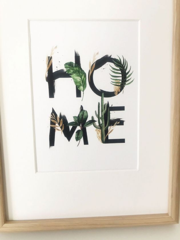 HOME leafy (A5) TEXTURED CARD